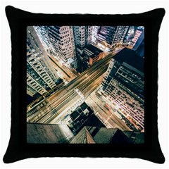 Architecture Buildings City Throw Pillow Case (Black)