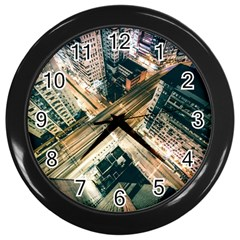 Architecture Buildings City Wall Clocks (black)