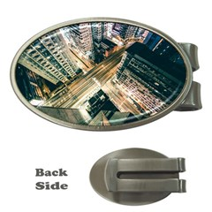 Architecture Buildings City Money Clips (oval)