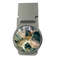 Architecture Buildings City Money Clips (round)