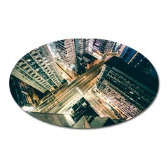 Architecture Buildings City Oval Magnet