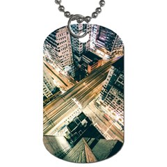 Architecture Buildings City Dog Tag (one Side)