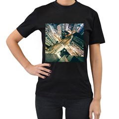Architecture Buildings City Women s T Shirt (black) (two Sided)