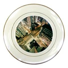 Architecture Buildings City Porcelain Plates