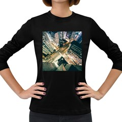Architecture Buildings City Women s Long Sleeve Dark T Shirts