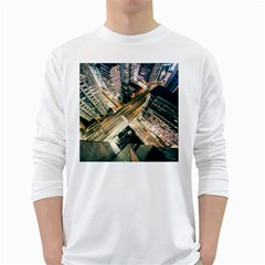Architecture Buildings City White Long Sleeve T Shirts