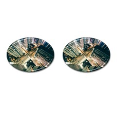 Architecture Buildings City Cufflinks (oval)