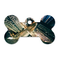 Architecture Buildings City Dog Tag Bone (one Side)