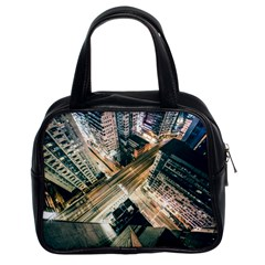 Architecture Buildings City Classic Handbags (2 Sides)