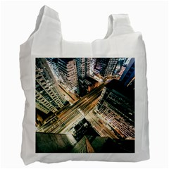 Architecture Buildings City Recycle Bag (one Side)