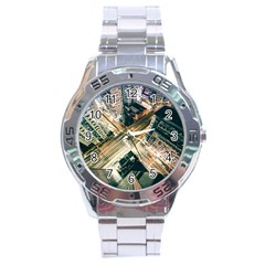 Architecture Buildings City Stainless Steel Analogue Watch