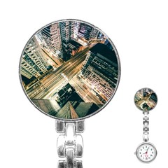 Architecture Buildings City Stainless Steel Nurses Watch