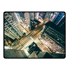 Architecture Buildings City Double Sided Fleece Blanket (small)
