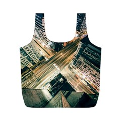 Architecture Buildings City Full Print Recycle Bags (m)
