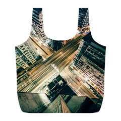 Architecture Buildings City Full Print Recycle Bags (l)