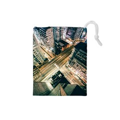 Architecture Buildings City Drawstring Pouches (small)