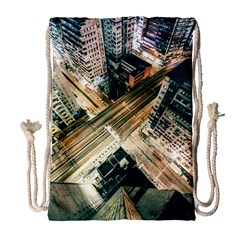 Architecture Buildings City Drawstring Bag (large)