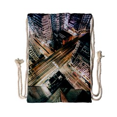 Architecture Buildings City Drawstring Bag (small)
