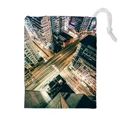 Architecture Buildings City Drawstring Pouches (extra Large)