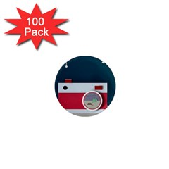Camera Vector Illustration 1  Mini Magnets (100 Pack)