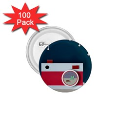 Camera Vector Illustration 1 75  Buttons (100 Pack)