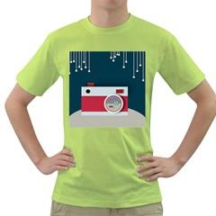 Camera Vector Illustration Green T Shirt