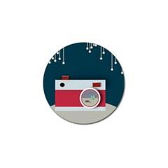 Camera Vector Illustration Golf Ball Marker (10 Pack)