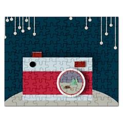 Camera Vector Illustration Rectangular Jigsaw Puzzl