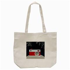 Camera Vector Illustration Tote Bag (Cream)