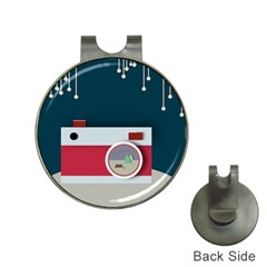 Camera Vector Illustration Hat Clips With Golf Markers