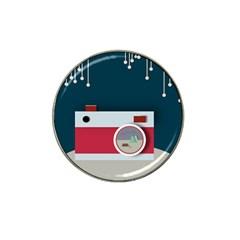 Camera Vector Illustration Hat Clip Ball Marker