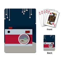 Camera Vector Illustration Playing Card