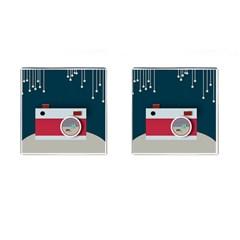 Camera Vector Illustration Cufflinks (Square)