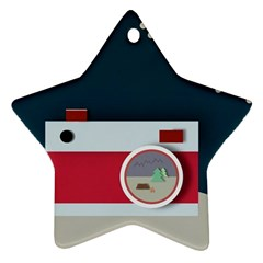 Camera Vector Illustration Star Ornament (two Sides)