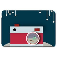 Camera Vector Illustration Large Doormat