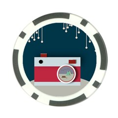 Camera Vector Illustration Poker Chip Card Guards