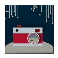 Camera Vector Illustration Face Towel