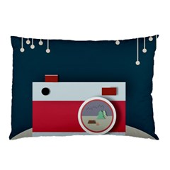 Camera Vector Illustration Pillow Case