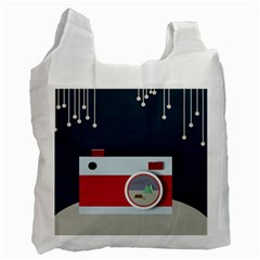 Camera Vector Illustration Recycle Bag (two Side)