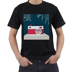 Camera Vector Illustration Men s T Shirt (black)