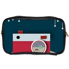 Camera Vector Illustration Toiletries Bags 2-Side