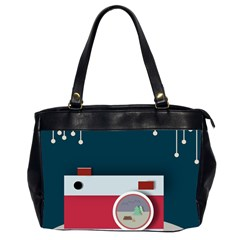 Camera Vector Illustration Office Handbags (2 Sides)