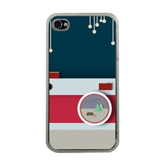 Camera Vector Illustration Apple Iphone 4 Case (clear)