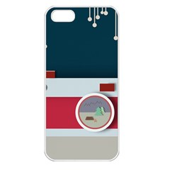 Camera Vector Illustration Apple iPhone 5 Seamless Case (White)