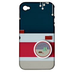 Camera Vector Illustration Apple Iphone 4/4s Hardshell Case (pc+silicone)