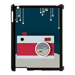 Camera Vector Illustration Apple Ipad 3/4 Case (black)