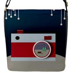 Camera Vector Illustration Flap Messenger Bag (s)