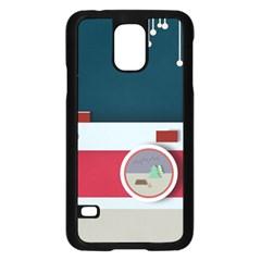 Camera Vector Illustration Samsung Galaxy S5 Case (black)
