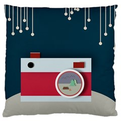Camera Vector Illustration Standard Flano Cushion Case (one Side)