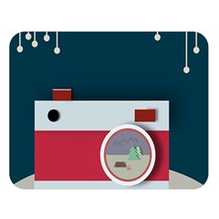 Camera Vector Illustration Double Sided Flano Blanket (large)